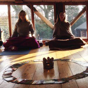 Sitting in Meditation Karuna Detox